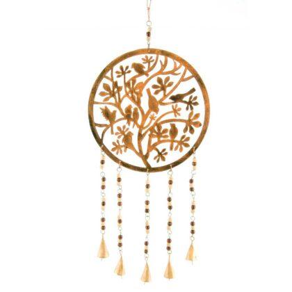 MD214 namaste indian accessory gift windchime birds beads