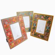 PF42 namaste indian accessory gift photo frame painted floral 2