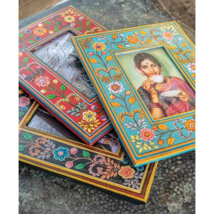 PF42 namaste indian accessory gift photo frame painted floral