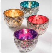 TL227 namaste indian accessory gift tlight colourful candle