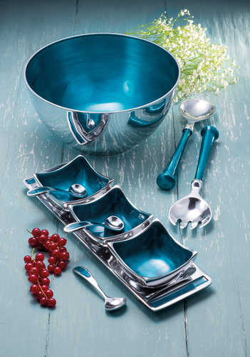 AL303 namaste indian accessory gift salad servers blue