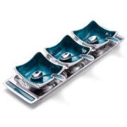 AL304 namaste indian accessory gift aluminuim bowls blue