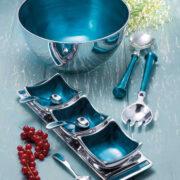 AL304 namaste indian accessory gift aluminuim bowls blue range
