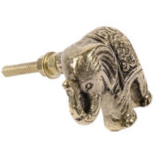 DK110 namaste accessory gifts knob elephant brass colour side