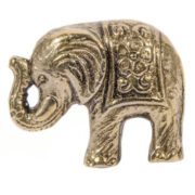 DK110 namaste accessory gifts knob elephant brass colour side front
