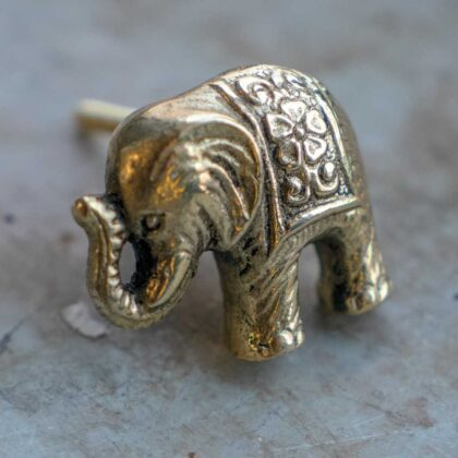 DK110 namaste accessory gifts knob elephant brass colour