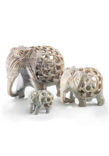 EL82 namaste accessory gifts elephant small undercut soapstone range