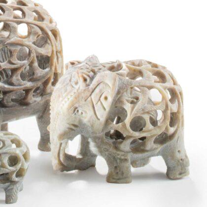 EL81 namaste accessory gifts elephant undercut soapstone