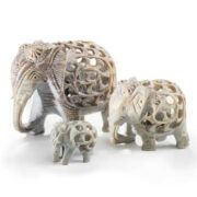 EL81 namaste accessory gifts elephant undercut soapstone range