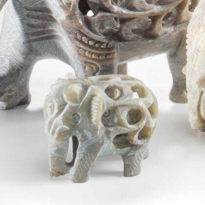 EL82 namaste accessory gifts elephant small undercut soapstone