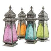 LT172 namaste indian accessory gift lantern patterned