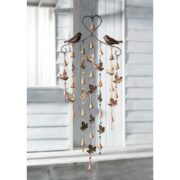 MD129 namaste indian accessory gift hanging metal birds