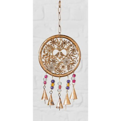 MD220 namaste indian accessory gifts metal hanging birds bells beads