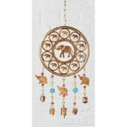 MD221 namaste indian accessory gifts metal hanging elephants