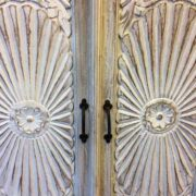 k69 1923 indian furniture sideboard large sunburst close doors