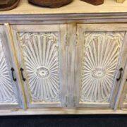 k69 1923 indian furniture sideboard large sunburst close front close