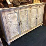 k69 1923 indian furniture sideboard large sunburst left