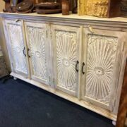 k69 1923 indian furniture sideboard large sunburst right
