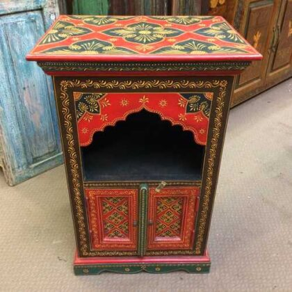 k72 9357 Painted Mihrab Cabinet Front