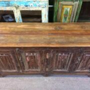 k72 544 indian furniture sideboard slim reclaimed doors top
