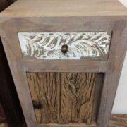 kh12 m 12720 indian furniture bedside driftwood door top