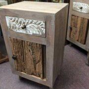 kh12 m 12720 indian furniture bedside driftwood door right
