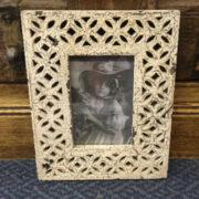 kh12 m 9208 indian photo frame flower carved front