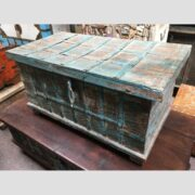 kh14 rs18 067 a indian furniture blue metalwork trunk main
