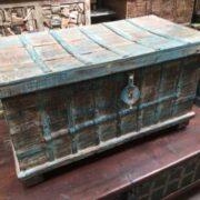 kh14 rs18 067 a indian furniture blue metalwork trunk left