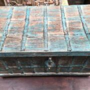 kh14 rs18 067 a indian furniture blue metalwork trunk top