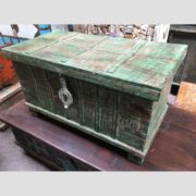 kh14 rs18 067 b indian furniture green metalwork trunk main