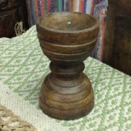 kh16 RS18 109 indian wooden candle holder original b