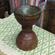 kh16 RS18 109 indian wooden candle holder original c