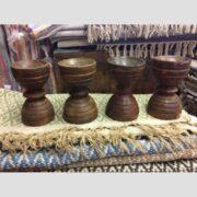 kh16 RS18 109 indian wooden candle holder original main