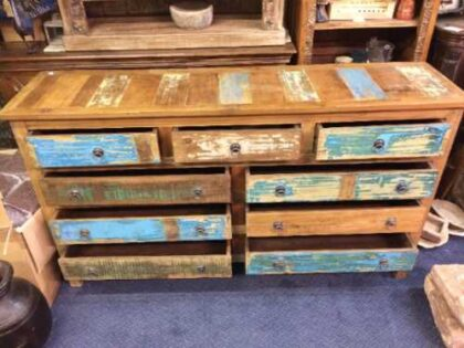 kh16 RS18 60 indian furniture sideboard drawers storage reclaimed open