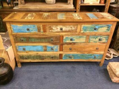 kh16 RS18 60 indian furniture sideboard drawers storage reclaimed front