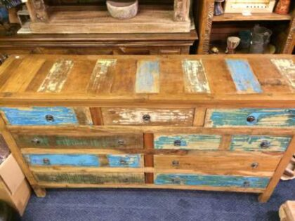 kh16 RS18 60 indian furniture sideboard drawers storage reclaimed top