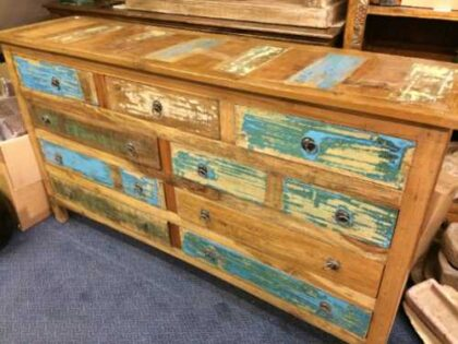 kh16 RS18 60 indian furniture sideboard drawers storage reclaimed right