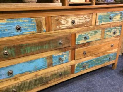 kh16 RS18 60 indian furniture sideboard drawers storage reclaimed left close