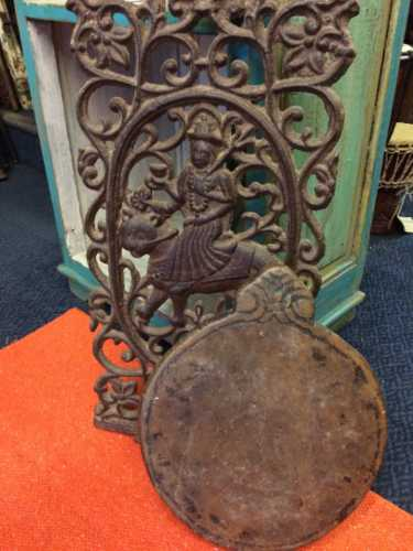 kh18 017 indian furniture chapati plate stone carved lean
