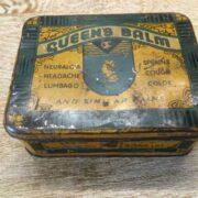 kh18 023 indian furniture original vintage tins advertising queens top