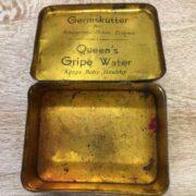 kh18 023 indian furniture original vintage tins advertising queens open