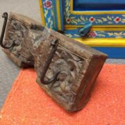 kh18 032 indian furniture hooks carved panel B