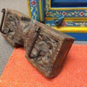 kh18 032 indian furniture hooks carved panel B