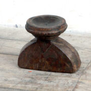 kh18 060 indian furniture candlestand vintage teak laying front main