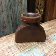 kh18 060 indian furniture candlestand vintage teak front