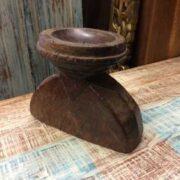 kh18 060 indian furniture candlestand vintage teak right