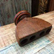 kh18 060 indian furniture candlestand vintage teak laying