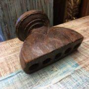 kh18 060 indian furniture candlestand vintage teak laying 2