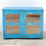 kh19 RS2020 096 indian furniture cabinet glass panelled front